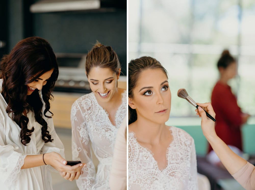 Bride getting ready for her Moda Portside Wedding by Cloud Catcher Studio