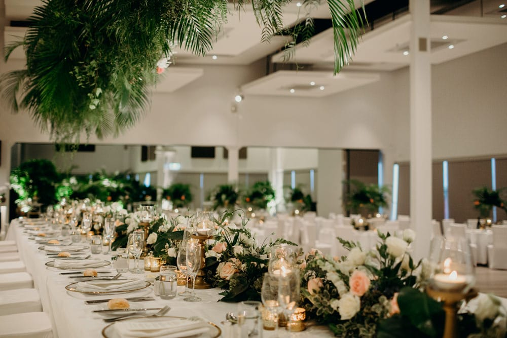 Moda Portside Tropical Luxe Wedding Reception by Cloud Catcher Studio