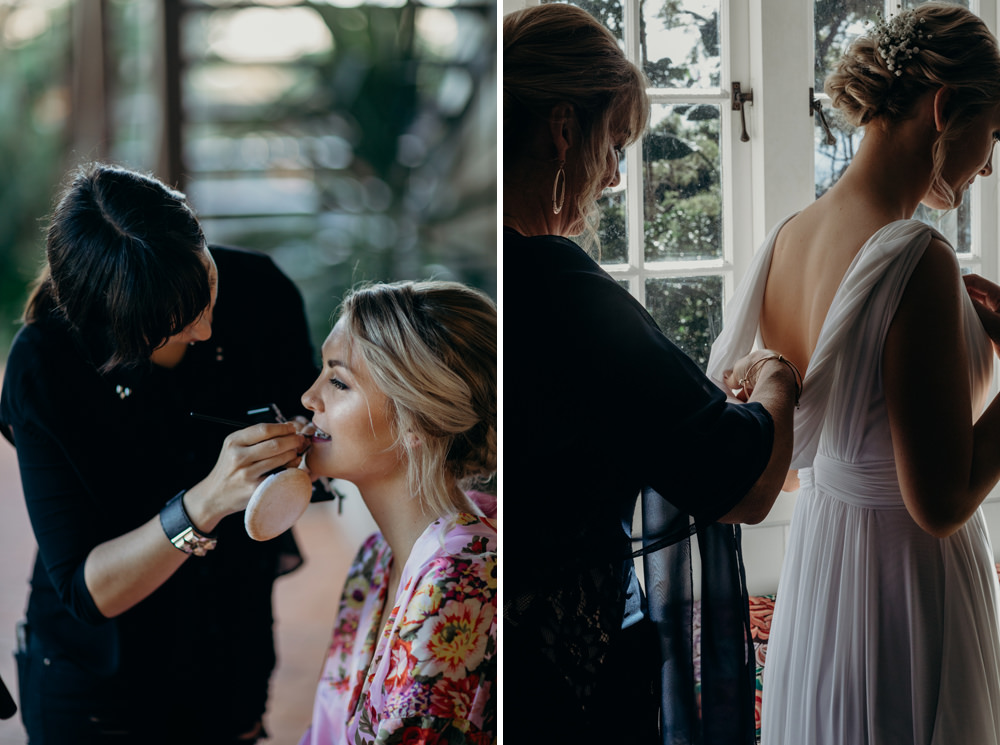 Bride getting ready on the morning of her Buderim Wedding by Cloud Catcher Studio