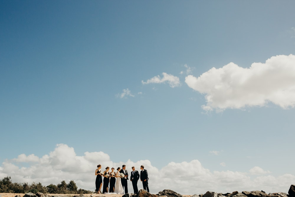 Just Married: Kate and Harry's Sails Noosa Beach Wedding