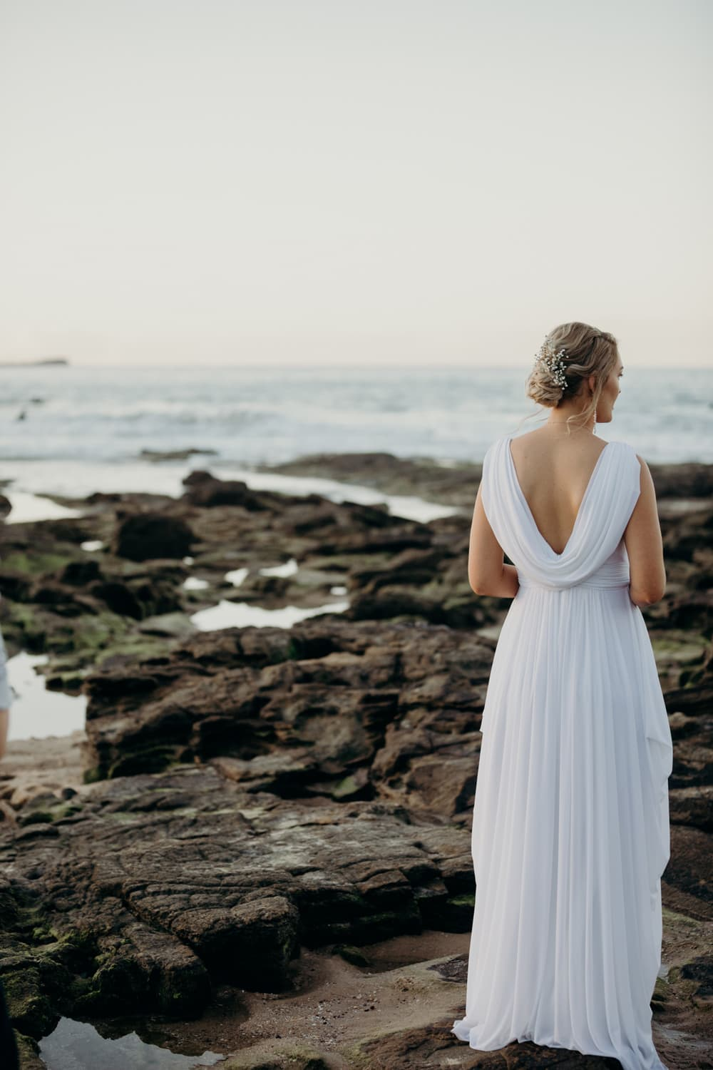 Candid photo of Bride on the Beach, Sunshine Coast by Cloud Catcher Studio
