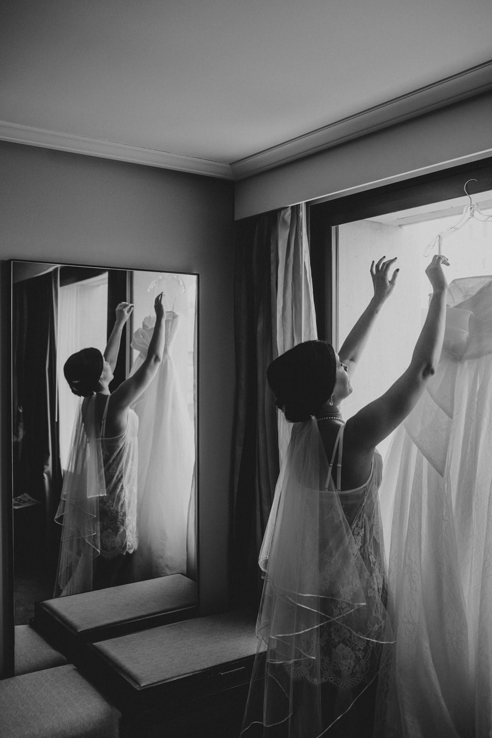 Bride getting ready at Sofitel Brisbane City Wedding by Cloud Catcher Studio