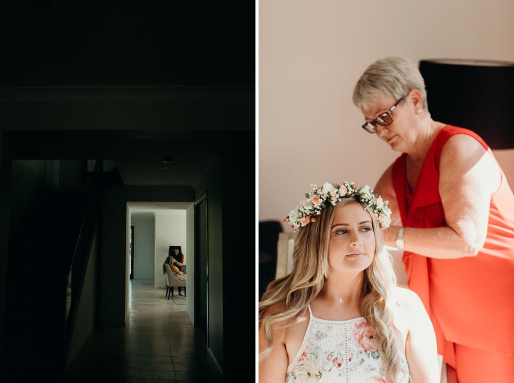 Bride getting ready for her Noosa Springs Resort Wedding by Cloud Catcher Studio