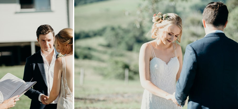 Candid photos of wedding ceremony in Byron Bay by Cloud Catcher Studio