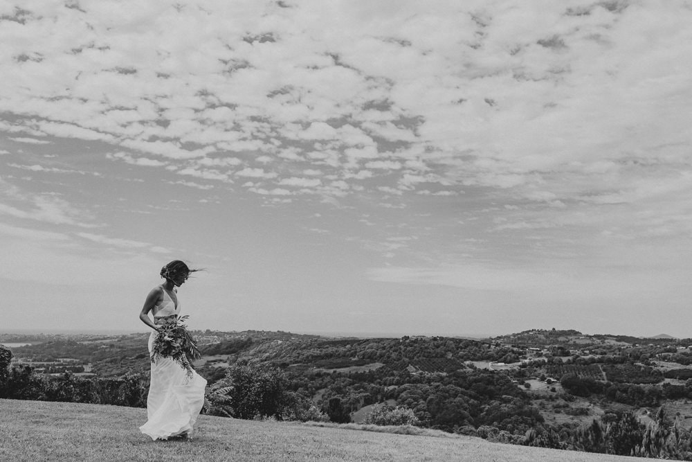 Candid portrait of Bride at Summergrove Estate by Cloud Catcher Studio