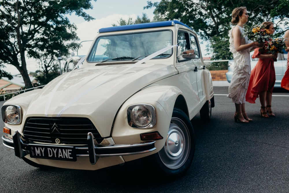 Retro wedding cars for Brisbane wedding by Cloud Catcher Studio