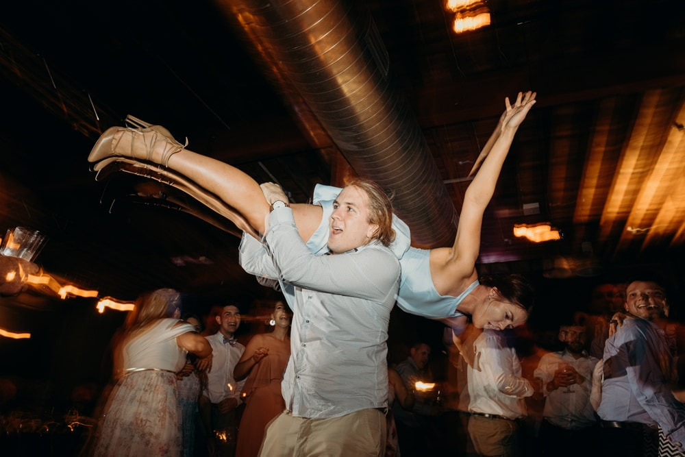 Fun dancefloor photography at Lightspace Wedding by Cloud Catcher Studio