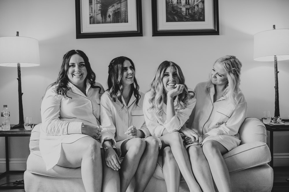 Unposed photo of bride and her bridesmaids at Spicers Clovelly Estate Wedding by Cloud Catcher Studio