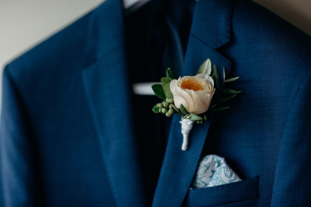 Groom's buttonhole detail at Spicers Clovelly Estate Wedding by Cloud Catcher Studio