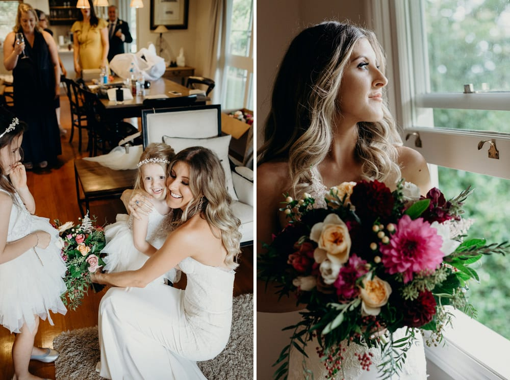 Bride getting ready at Spicers Clovelly Estate Wedding by Cloud Catcher Studio