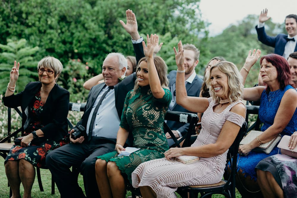 Candid photo of family at Spicers Clovelly Estate Wedding by Cloud Catcher Studio