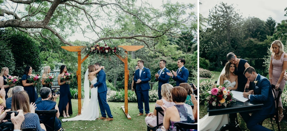 Wedding ceremony love at Spicers Clovelly Estate Wedding by Cloud Catcher Studio