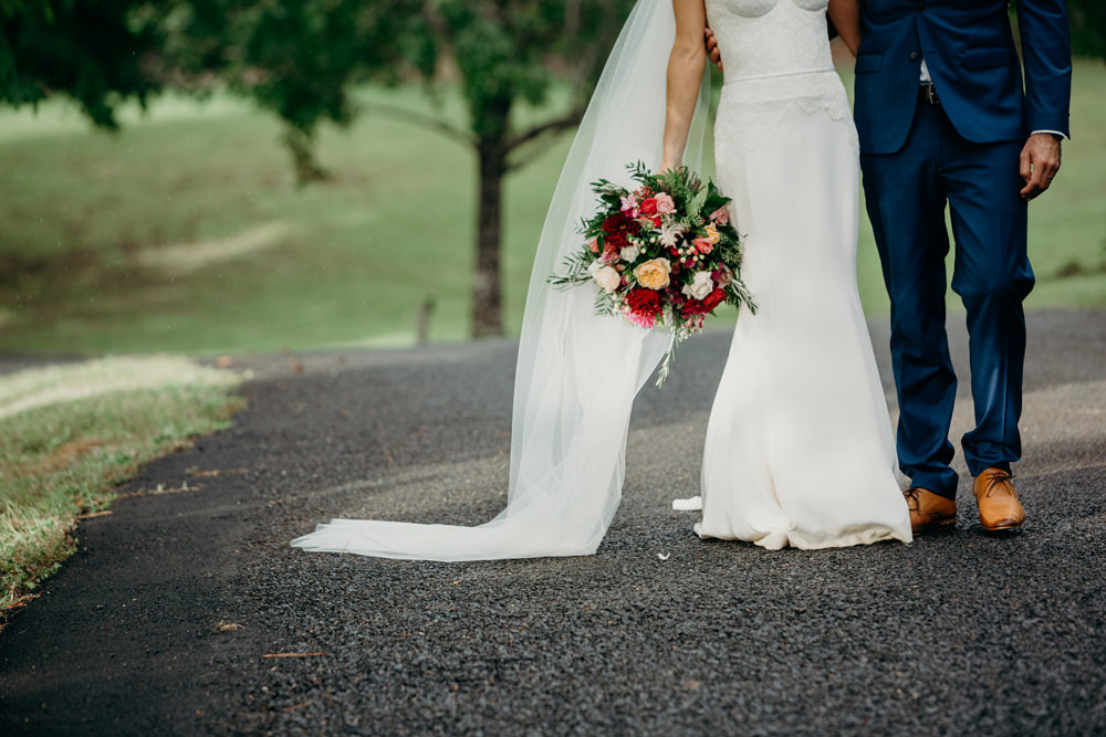 Bride's bouquet detail at Spicers Clovelly Estate Wedding by Cloud Catcher Studio