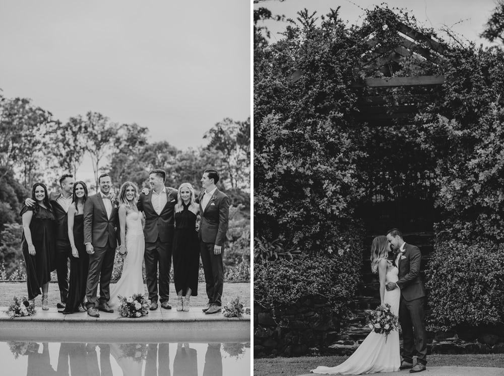Candid wedding party portraits at Spicers Clovelly Estate Wedding by Cloud Catcher Studio