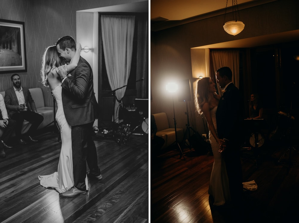 Bride and groom first dance at Spicers Clovelly Estate Wedding by Cloud Catcher Studio