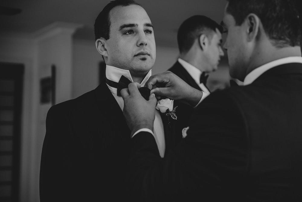 Groom getting ready for Moda Portside Wedding by Cloud Catcher Studio