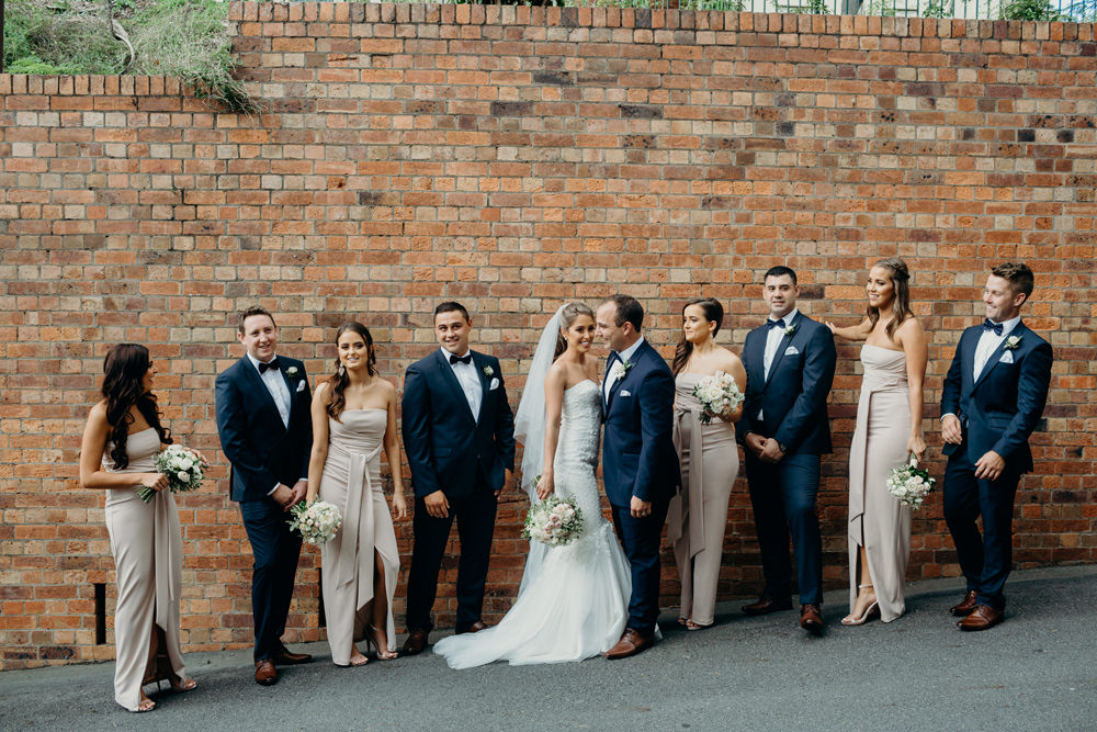 Unposed photos of Bridal Party at Brisbane Wedding by Cloud Catcher Studio