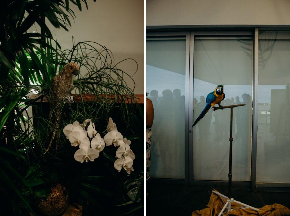 Moda Portside Tropical Luxe Wedding Reception by Cloud Catcher Studio