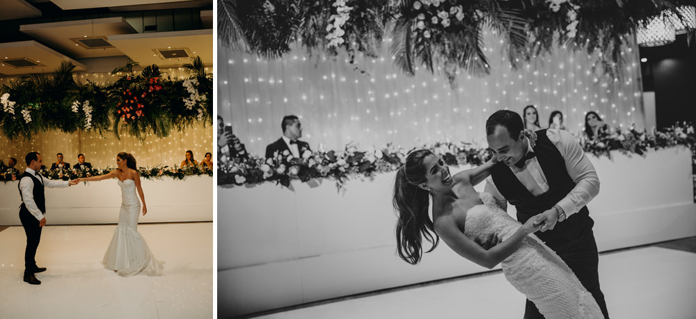 Bride and Groom's first dance at Moda Portside by Cloud Catcher Studio