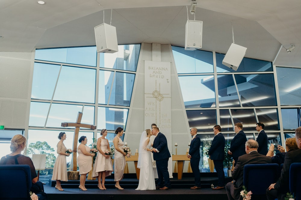Wedding ceremony at Immanuel Lutheran Church